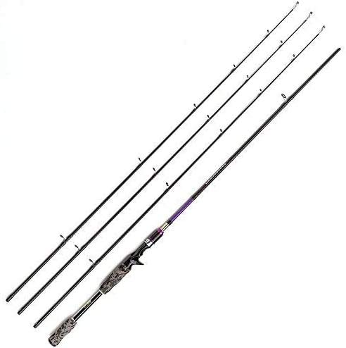 JOHNCOO Spinning Rod 3 Secciones ML M MH Carbon Baitcasting Rod 2.1m 2.4m Acción Rápida para Pesca Pike Bass Trout