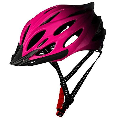 Casco Bicicleta SFBBAO Adulto Niño Unisex Mountain Road Bike Seguridad De Peso Ligero con Deportes Al Aire Libre 22 * 17cm Rosa