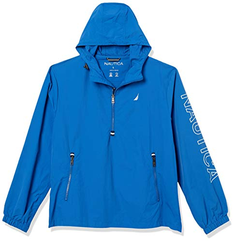 Nautica Herren Crinkle Nylon Popover Jacke, Blau-Monaco Blue, XX-Large