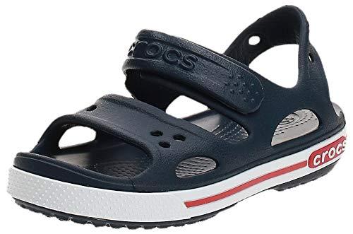 Crocs Crocband II Sandal Kids, Sandalias Unisex Niños, Azul (Navy/White), 28/29 EU