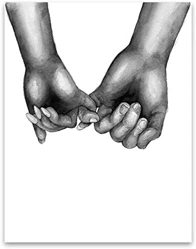 """Surfilter Print auf Leinwand Wandkunst Gemälde Leinwanddruck Hand für Hand Bild Poster druckt Wohnkultur für Wohnzimmer dekorativ 27.5"""" x 39,4""""(70x100cm) No Frame1"""