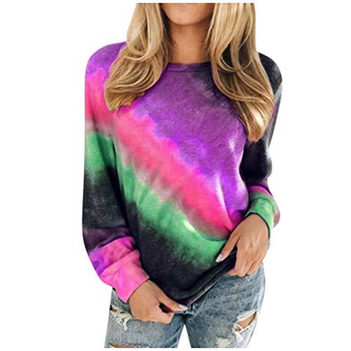Buy Discount HunYUN Women Long Sleeve Tops Blouse Autumn Fashion Casual Pullover O-Neck T-Shirt Grad...