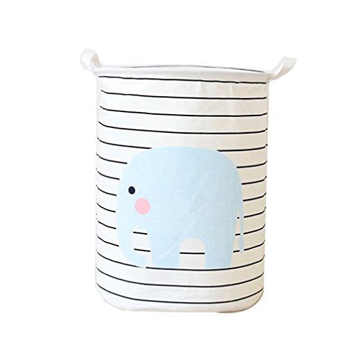 JEELINBORE Plegable Cestos para la Colada Cajas de almacenaje Impermeable Cestas de Tela para Guardar Organizadoras Juguetes Ropa Cesta para lavandería (Elefante, 35x45CM)