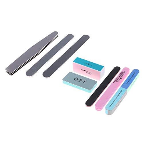 simhoa 8pcs Model Nail Polishing Tools Bar Buffing Burnishing Model Finishing Tool