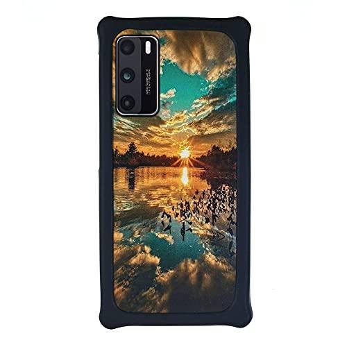 HUAYIJIE Funda para Huawei P9 Lite Mini Funda Case Cover Carcasa para teléfono Hard Backplane + Marco de Silicona Suave PCFJ