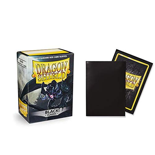 Dragon Shield Classic Black Standard Size 100 ct Card Sleeves Individual Pack
