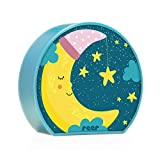 reer 52063 Mybabylight, Nachtlicht mit Mond-Motiv, Einschlaflicht für Baby und Kind, Batterie-Betrieben, Blau