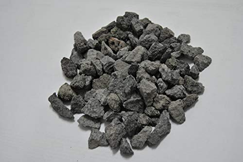 ICEA Premezclados – 25 kg Grava gruesa de piedra volcánica del Etna surtida de 4 mm a 32 mm, ideal para barbacoas de gas – Decoración de jardín – Relleno de macetas – Decorativo – Color gris