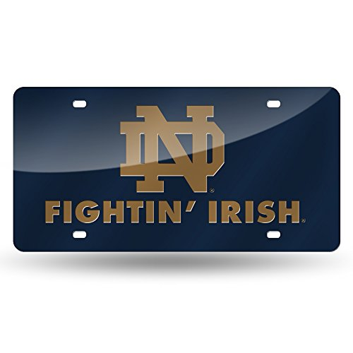 Rico Industries NCAA Notre Dame Fighting Irish Laser Inlaid Metal License Plate Tag