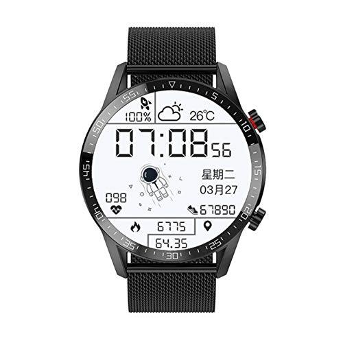 ZRY E12 Reloj Inteligente para Hombres y Mujeres, Llamada Bluetooth IP67 IP67 Impermeable Pantalla táctil Completa Sports Tracker Smart Watch para Android iOS,B