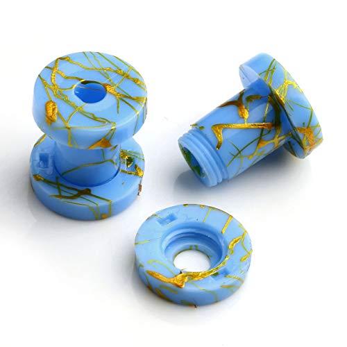 PiercingJアクリル 拡張器 ボディピアス ボディーピアス 耳拡 トンネルピアス エキスパンダー 金線メッキ (5mm・4G)
