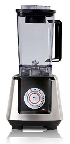 Domo DO486BL - Licuadora (2 L, 26000 RPM, Giratorio, Batidora de vaso, Negro, Plata, De plástico)