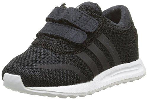 adidas Jungen Baby-Mädchen Los Angeles Sneaker, Schwarz/Weiß/Weiß, 22 EU