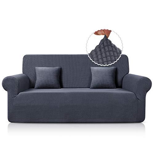 TAOCOCO Sofa Überwürfe Sofabezug Jacquard Elastische Stretch Spandex Couchbezug Sofahusse Sofa Abdeckung in Verschiedene Größe und Farbe (Grau, 3-sitzer(180-230cm))