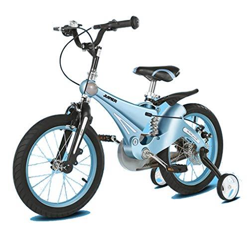 TD Kinderfahrrad Fahrrad 3-6 Jahre Alt Männer Und Frauen Baby Fahrrad Magnesiumlegierung Stoßdämpfung Frühling Kinderwagen V0078 (Color : Holy Lake Blue, Size : 12 inches)