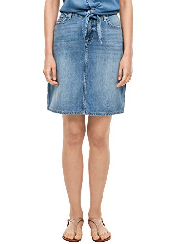 s.Oliver Damen Rock kurz Blue Lagoon Denim 36