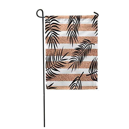 12,5 'x 18' Garten Flagge Paradies Sommer Tropische Palmblätter auf Kupferstreifen Aloha Home Outdoor Dekor doppelseitige wasserdichte Yard Flags Banner für Party