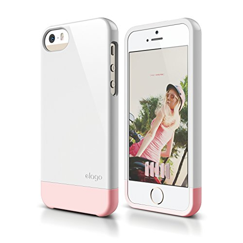 iPhone SE case, elago [Glide-Limited][White/Lovely Pink] - [Mix and Match][Premium Armor][True Fit] - for iPhone SE/5/5S