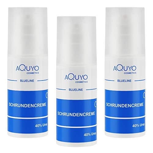 Blueline Schrundencreme 40% Urea, Fußcreme zum Hornhaut entfernen, Creme für rissige Fersen und Füße, zur Behandlung von Schrunden (Rhagaden) an Händen, Ellenbogen oder...