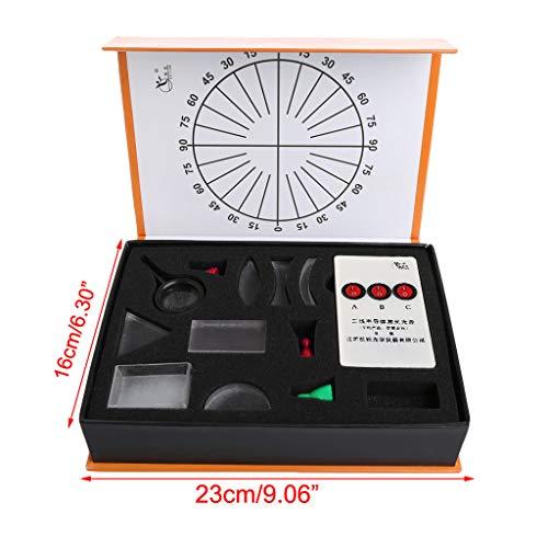 VIccoo Optical Concave Convex Lens Prism Set Fysieke Optische Kit Laboratorium Apparatuur