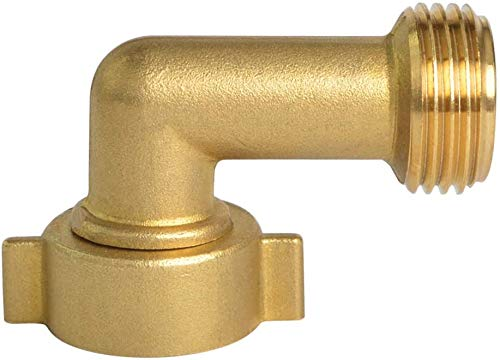 HYDRO MASTER 0711801 90 Degree Garden Hose Elbow with Lead Free Brass 3/4' FHT x 3/4' MHT