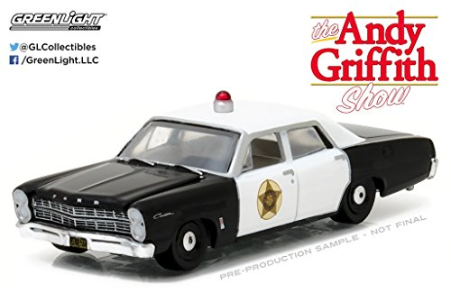 Greenlight 44760-B Andy Griffith 1967 Ford Custom Mayberry Police Car 1:64 Scale Diecast