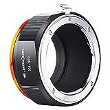 K&F Concept-Adaptador de Lentes, Adaptador de Objetivo M11115 Nikon-FX para Nikon AI/F Mount Lens a Fujifilm X Series Mirrorless FX Mount Camera Adaptador para Fuji XT2 XT20 XE3 XT1 X-T2