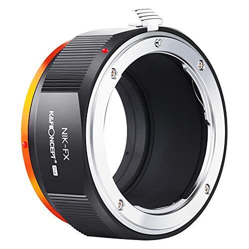 K&F Concept - Adaptador de Lentes, Adaptador de Objetivo M11115 Nikon-FX para Nikon AI/F Mount Lens a Fujifilm X Series Mirrorless FX Mount Camera Adaptador para Fuji XT2 XT20 XE3 XT1 X-T2