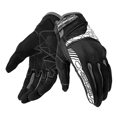 Bruce Dillon Guantes de Moto Guantes de Moto con Pantalla táctil Guantes de Motocross Guantes de Moto de conducción Transpirables - Negro X XL