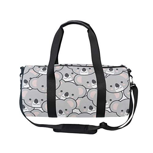 MNSRUU Reisetasche mit Koala-Emoji-Motiv, groß, Unisex, hohe Kapazität, großes Gepäck, Sporttasche