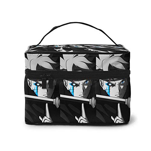 Makeup Bag, Naru-to Travel Portable Cosmetic Bag Large Pouch Mesh B Organizer Toiletry Bag for Women Girls