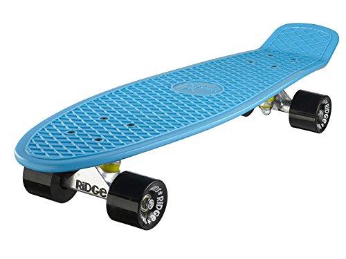 Ridge Skateboards Big Brother Retro Cruiser, Azzurro/Nero, 69 cm (27'')
