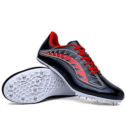 Competición de Atletismo al Aire Libre Zapatillas de Clavos Deportivas Profesionales Zapatos con Clavos Deporte Corriendo Respirable Deportes Zapatos Botas de Spike Hombre Adulto Training