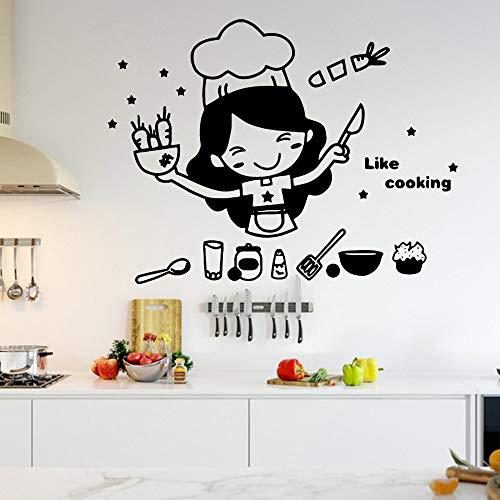 Zdklfm69 Adhesivos Pared Pegatinas de Pared Papel Pintado de Vinilo con Frase de Cocina Decorativo para decoración del hogar, Mural de Arte de Pared para Sala de Estar y Dormitorio 103x76cm