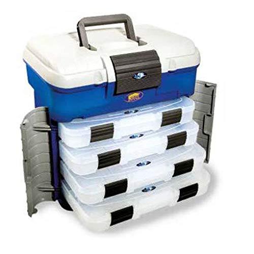 Lineaeffe Super Box 2 42 x 30.3 x 40 cm Boîte de Pêche Msllette Rangement Accessoire Leurre Hameçon Tackle Box Plastique