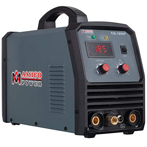 Amico TIG-185, 180 Amp TIG/High Frequency & Stick Arc 2-in-1 DC Welder 110/230V Dual Voltage Inverter Welding