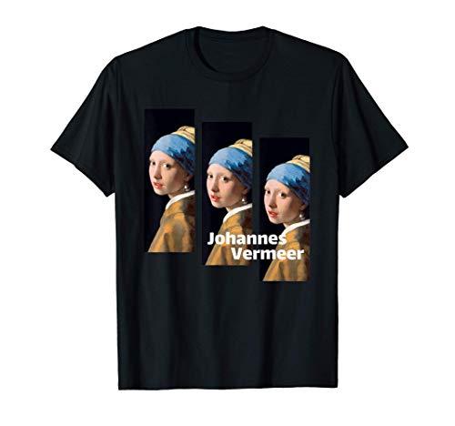 Cuadro Chica con un pendiente de perla de Johannes Vermeer Camiseta
