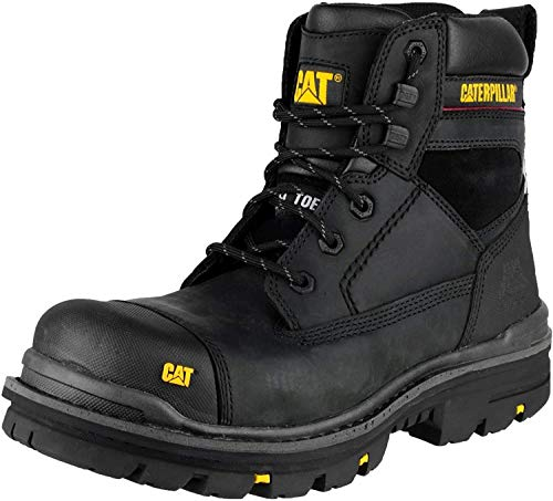 Caterpillar Gravel 6 Inch Mens Black Safety Boots (9 UK) (Black)