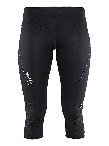Craft Mujer Essential Capri W–Pantalones de Running, Mujer, Color Negro, tamaño Extra-Small