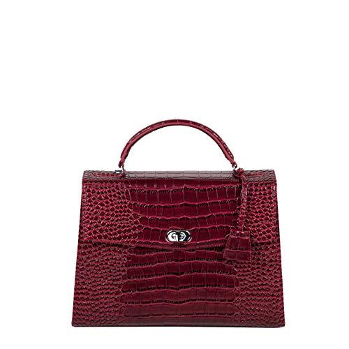 """Socha Audrey Businessbag 13.3\"""" Croco Burgundy"""