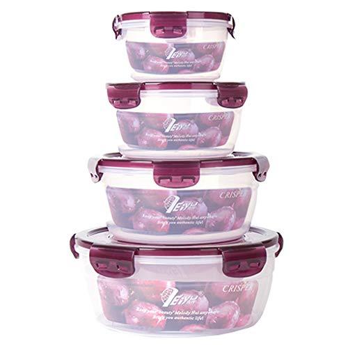 Frischhaltedosen, Luftdicht Aromaschutz, 4 Teile, Vorratsbehälter mit Deckel