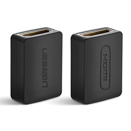 UGREEN 2 Pack HDMI Coupler 4K HDMI Adapter Female to Female HDMI Connector Support 3D 4K 1080P HDMI Extender for HDTV Roku TV stick Chromecast, Nintendo Switch Xbox One PlayStation 4 PS 3, Laptop PC