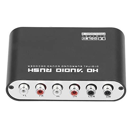 Metal Audio Decodificador Electrónico Reducción de Ruido Estabilidad de Sonido Amplificador de Audio, para HD TV, para Reproductor de Red (Regulador Británico)