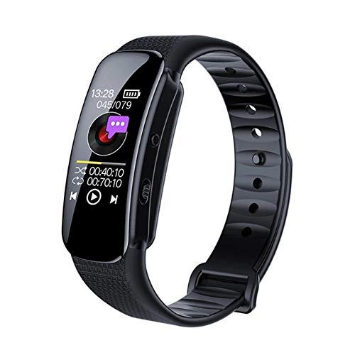 MSHD Pulsera De 8GB, Grabadora De Voz, Reloj Inteligente, Pulsera, Activación por Voz, Grabadora De Voz Digital, Reproductor De Música MP3 para Conferencias, Reuniones
