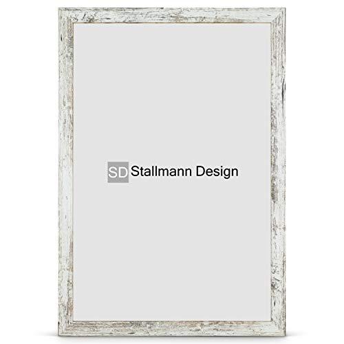 Stallmann Design Bilderrahmen New Modern 50x70 Puzzleformat cm Vintage Rahmen Fuer Dina 4 und 60 andere Formate Fotorahmen Wechselrahmen aus Holz MDF mehrere Farben wählbar Frame für Foto oder Bilder