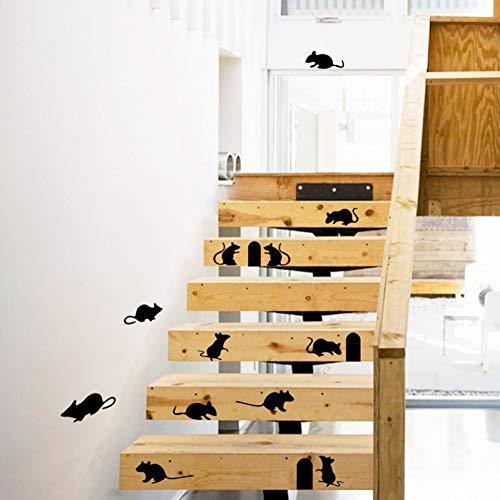 TAOYUE Cartoon Grappige muis-gat muursticker leuke ratte gat stopcontact schakelaar sticker DIY trap huis decoratie afneembare muurtattoos