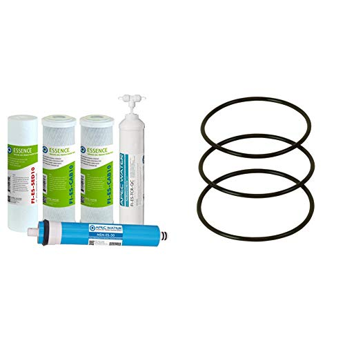 APEC Water Systems FILTER-MAX-ES50 50 GPD High Capacity Complete Replacement Filter Set & Water Systems SET 3 Pcs 3.5