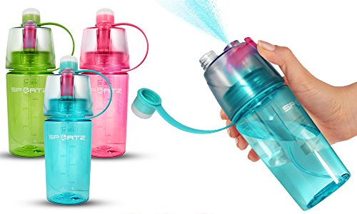 Zodiak SportZ Leakproof BPA Free Sports Water Bottle 400 ml With Spray Function Pink
