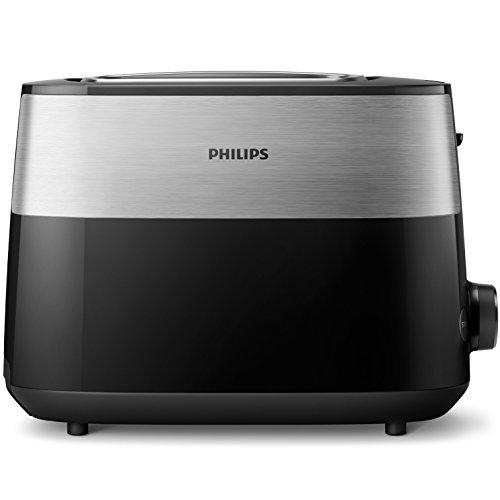 Philips HD2515/90 Brotgitter, gebürsteter Edelstahl, Schwarz