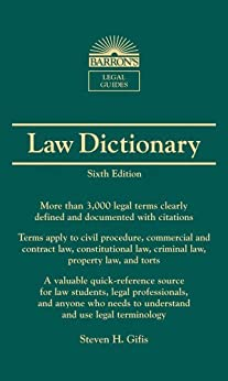 Law Dictionary: Mass Market Edition (Barron's Legal Guides) by [Steven H. Gifis]